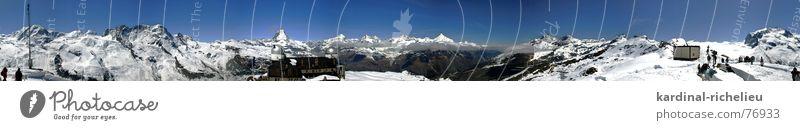 Hörnli Panorama Schnee Berge u. Gebirge Eis wandern Schweiz Klettern Gletscher Matterhorn Zermatt Observatorium Pollux Breithorn Gornergrat Liskamm Parrotspitze Duforspitze