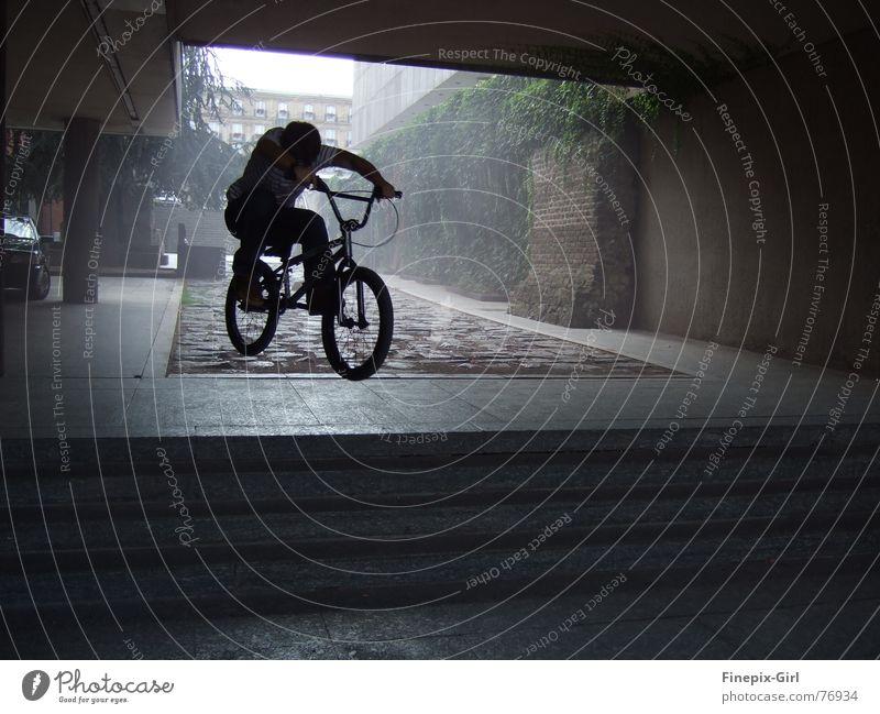 Schattenfahrer Bewegung Fahrrad Dynamik
