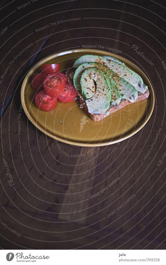 vesper Lebensmittel Gemüse Brot Avocado Tomate Ernährung Abendessen Bioprodukte Vegetarische Ernährung Slowfood Teller frisch Gesundheit lecker natürlich