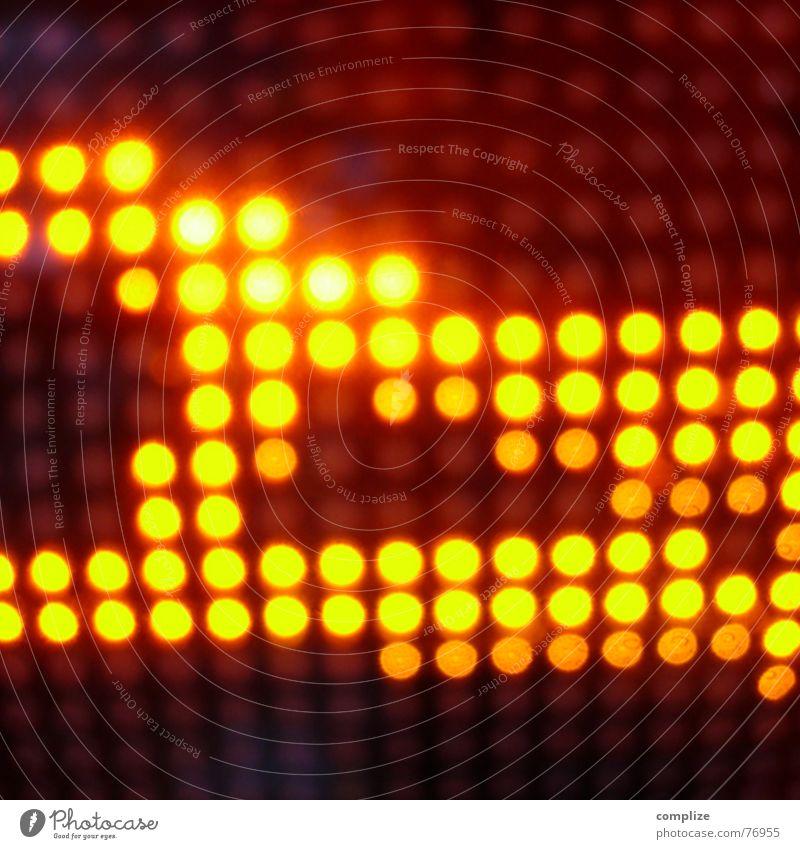 xpress° gelb Farbe Lampe Party orange glänzend Hintergrundbild Kreis Disco Punkt Club obskur Strahlung Elektronik Scheinwerfer Reaktionen u. Effekte