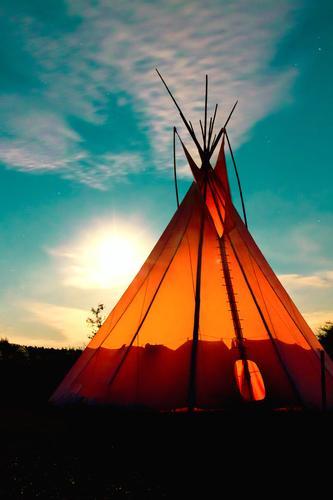 Indian Time Himmel Natur schön Sommer ruhig Wolken Wärme außergewöhnlich orange Idylle wild leuchten frei ästhetisch Schönes Wetter Warmherzigkeit