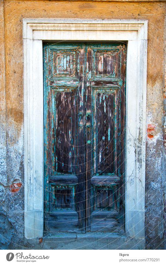 alt Haus Architektur Stein Fassade Felsen Metall dreckig Tür Kirche Europa Beton Italien Sicherheit historisch Denkmal