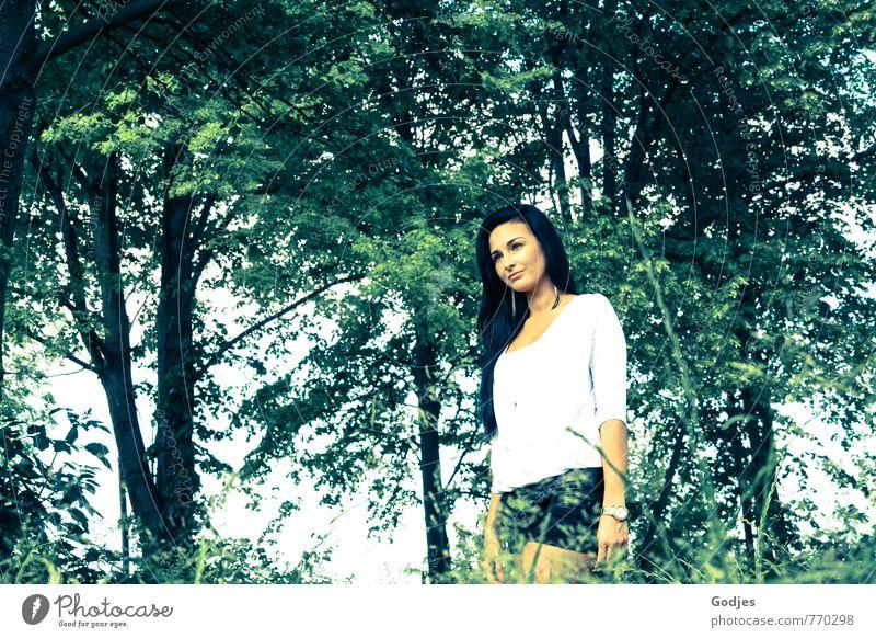 weitblick Mensch Natur Jugendliche blau schön grün weiß Sommer Baum Junge Frau 18-30 Jahre Tier schwarz Erotik Wald Erwachsene