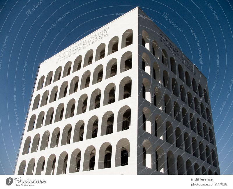 Palazzo della Civiltà Italiana *one* Rom Italien Denkmal building palace arcs marble historical Euro neoclassic architecture
