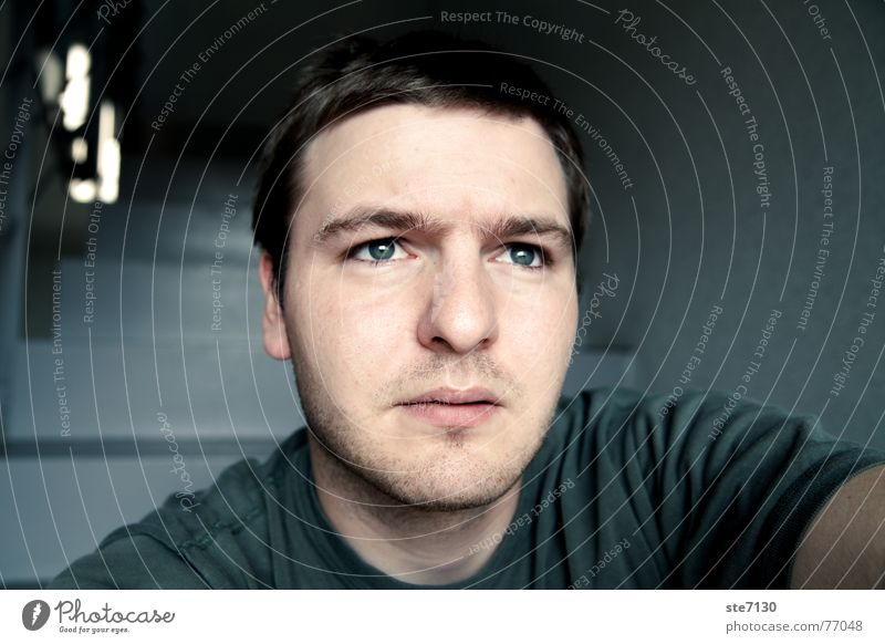 Selbstportrait Mann Aussicht Bart man Anmut Dreitagebart blaue_augen