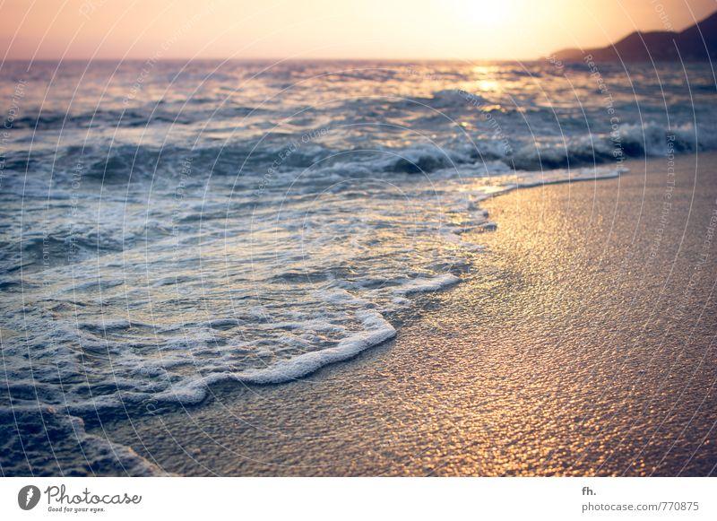 PLASTIC BEACH Umwelt Landschaft Sand Wasser Himmel Wolkenloser Himmel Horizont Sonnenaufgang Sonnenuntergang Sonnenlicht Sommer Schönes Wetter Wärme Wellen