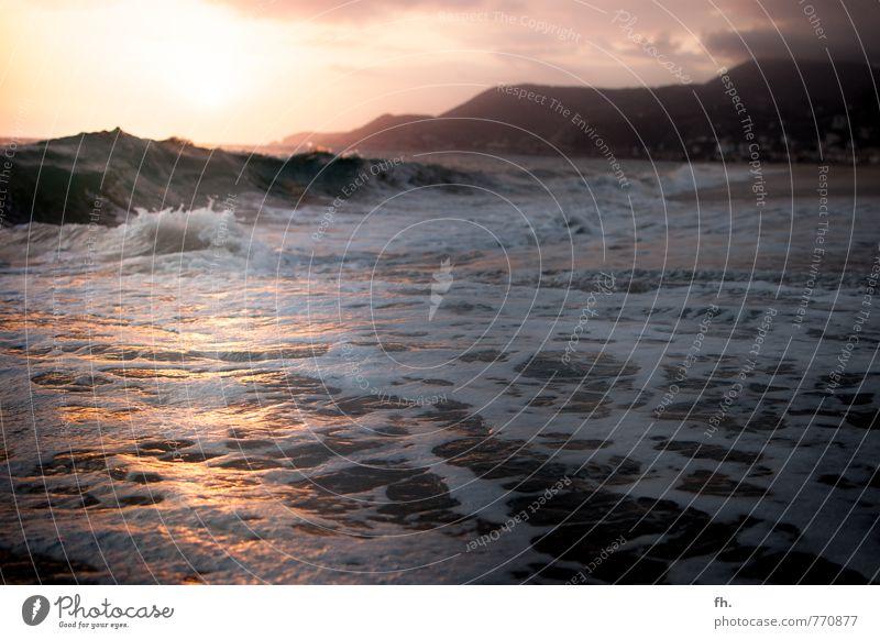 When I met you in the summer - to my heartbeat sound... Natur Erde Wasser Himmel Sonnenaufgang Sonnenuntergang Sonnenlicht Sommer Schönes Wetter Wellen Küste