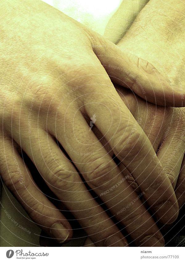 gegangen Hand Abschied Finger gehen Tod kalt gelb Daumen Trauer berühren Liebe Streicheln geschlossen leicht Delikt gelbliche finger verschränkte hände Wärme