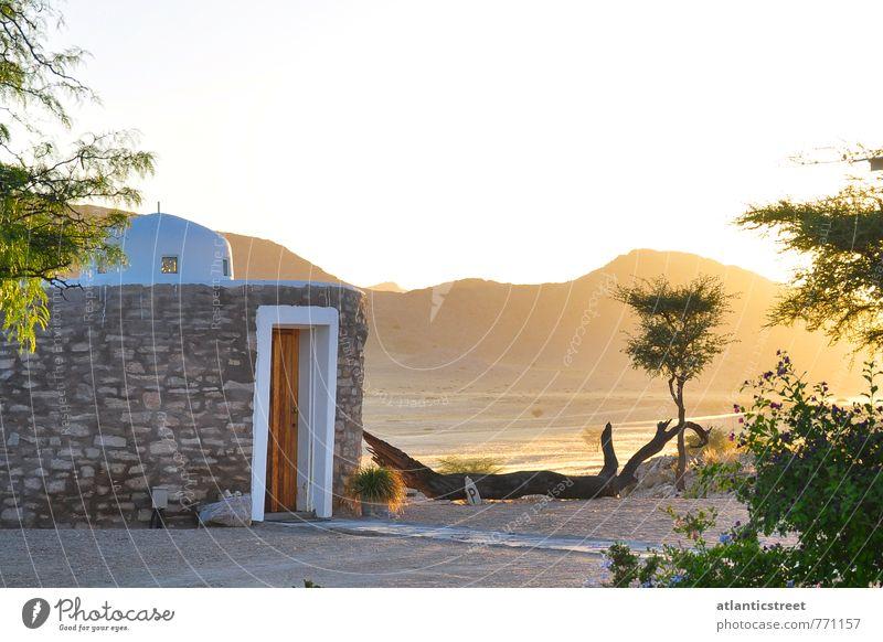 Sonnenuntergang Tsondab Valley, Namibia Ferien & Urlaub & Reisen Ferne Safari Haus Wolkenloser Himmel Sonnenaufgang Sonnenlicht Schönes Wetter Wärme Hügel Wüste