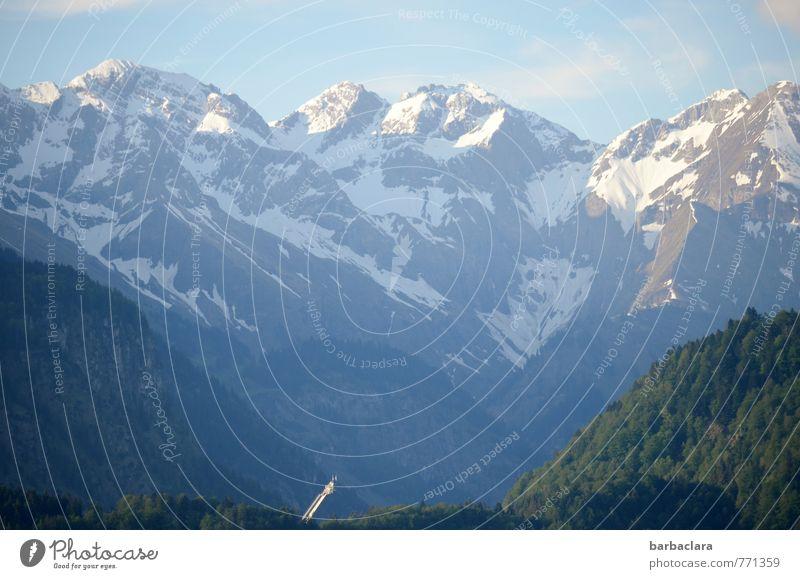 Flugschanze Natur blau weiß Erholung Landschaft Ferne Berge u. Gebirge Freiheit Erde hell leuchten groß hoch Klima Schönes Wetter Urelemente