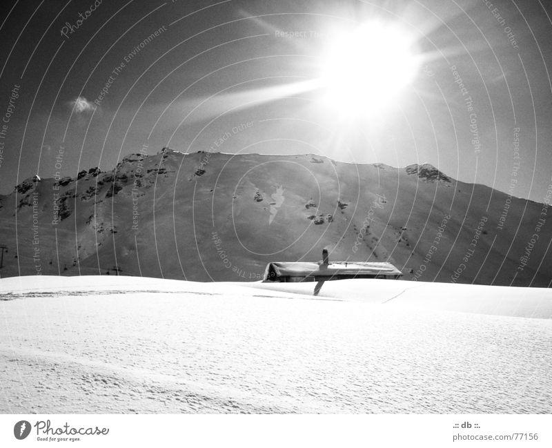 .::WINTER_TRAUM::. Ferien & Urlaub & Reisen Haus Schweiz Schnee Sonne Berge u. Gebirge Schwarzweißfoto