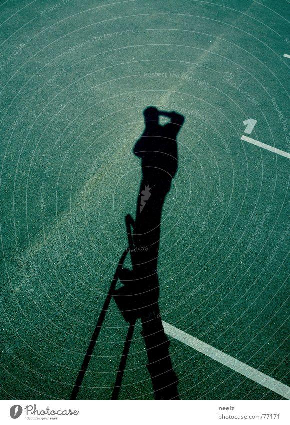   im einsatz   Arbeit & Erwerbstätigkeit Schilder & Markierungen Asphalt Leiter Parkplatz Fotograf Fotografieren