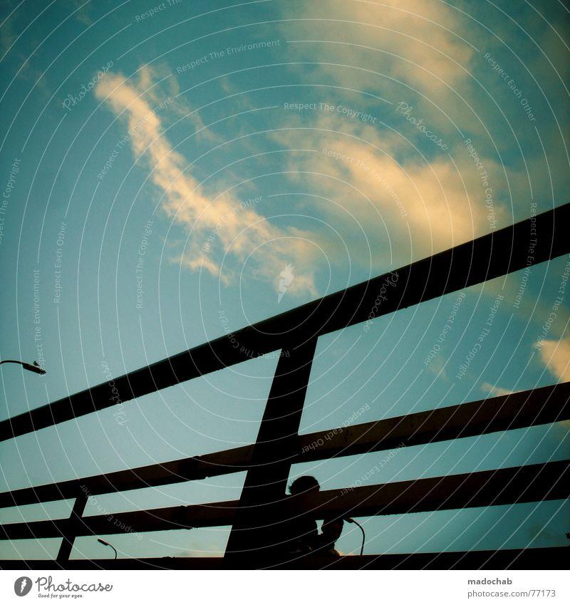 bizbzbi Mensch Himmel blau Wolken kalt Leben Herbst Freiheit fliegen gehen oben Zusammensein Wetter laufen nass Schönes Wetter