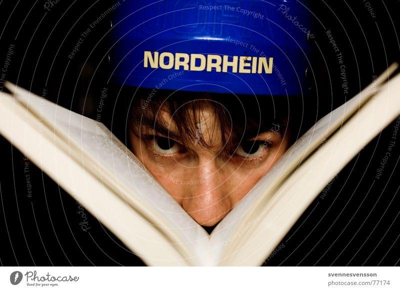 Leseratte Mensch Gesicht Auge Farbe Haare & Frisuren Buch Nase Seite Helm Kopfschutz