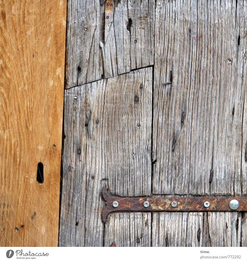 Weinlager, vermutlich Tür Scharnier Schraube Türschloss Maserung Holz alt historisch Originalität verrückt wild Inspiration Leichtigkeit Problemlösung Nostalgie
