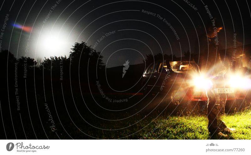 .:: SOMMERNACHT ::. Sommer Nacht Freundschaft Licht PKW Mond Mensch Abend