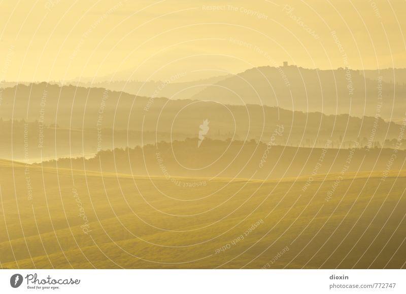 Morgenstund´ Natur Ferien & Urlaub & Reisen Sommer Sonne Landschaft Ferne Berge u. Gebirge Umwelt natürlich Freiheit Erde Tourismus Wetter Luft Nebel