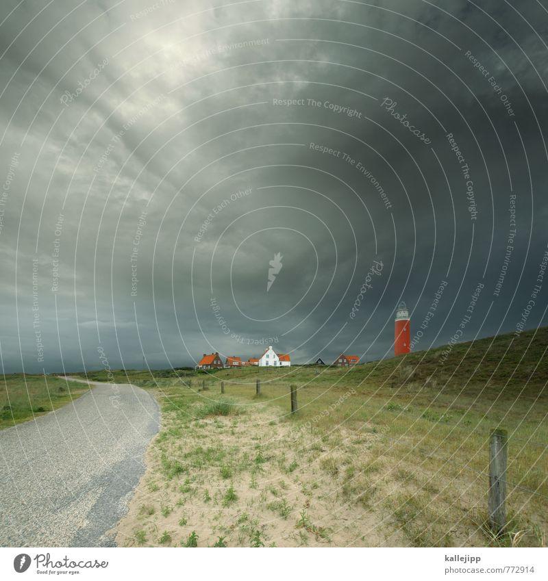 leuchtturmprodukt Sturm Gewitter Hügel Küste Nordsee Insel historisch hoch Leuchtturm Orientierung Navigation Navigationssystem Nordseeinsel Futurismus planen