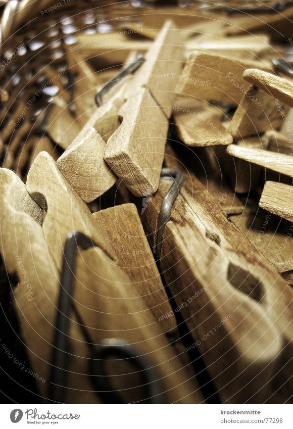 chluperli Holz festhalten Wäsche Anhäufung Haushalt Korb aufhängen Wäscheklammern Haushaltsführung