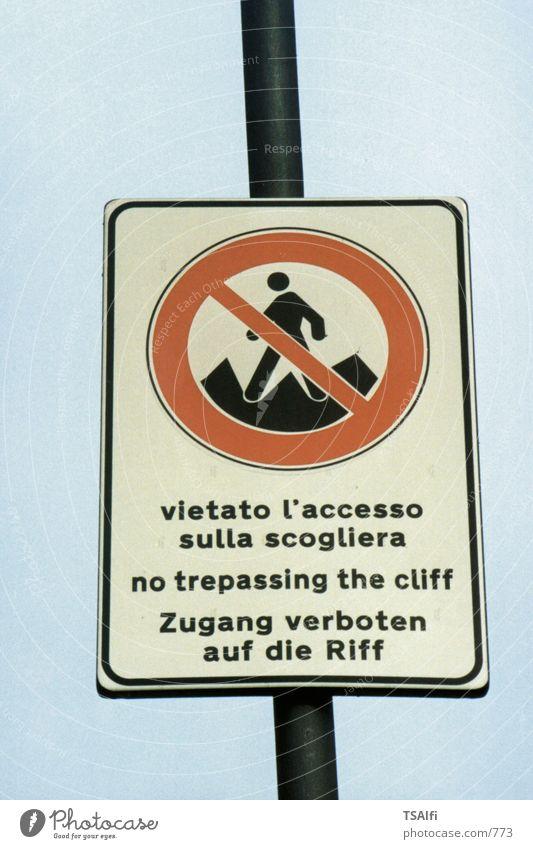 Verbotsschild lustig Schilder & Markierungen Dinge Riff Fehler Meer