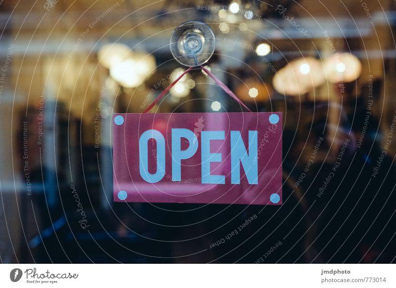 Come in! It's open! Innenarchitektur Essen Stil Lifestyle Kunst Design Tourismus Büro Dekoration & Verzierung elegant Glas offen Schriftzeichen kaufen Zeichen