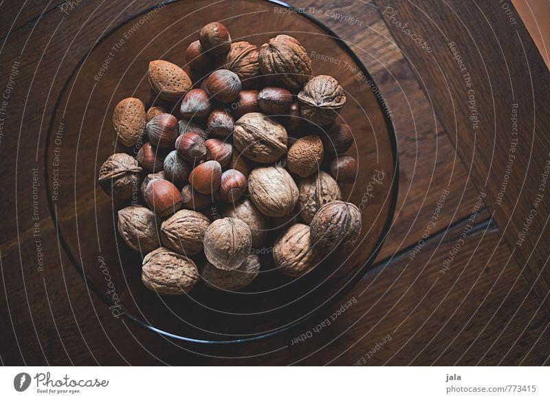 nüsse Gesunde Ernährung natürlich Gesundheit Lebensmittel einfach lecker Bioprodukte Schalen & Schüsseln Vegetarische Ernährung Holztisch Nuss Walnuss Haselnuss