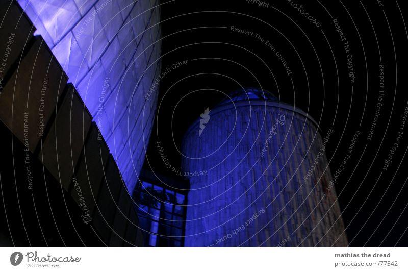 ? blau Haus Gebäude Fassade Turm Kugel Planetarium Prenzlauer Berg