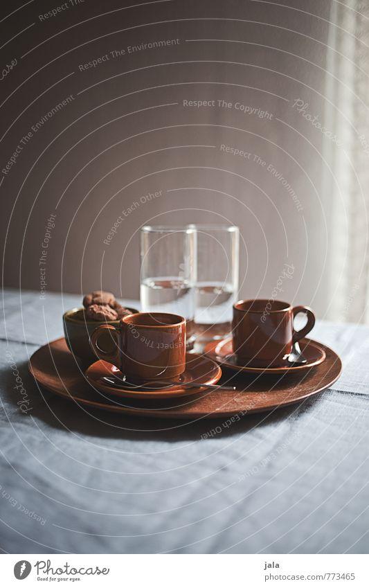espresso Kaffeetrinken Getränk Erfrischungsgetränk Trinkwasser Espresso Geschirr Tasse Glas Tablett ästhetisch gut lecker genießen Durst Farbfoto Innenaufnahme