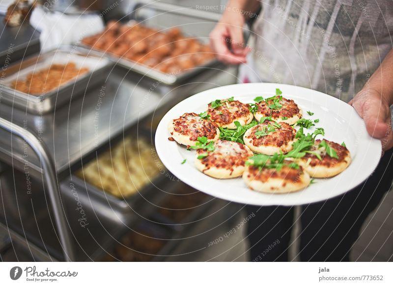 pizzahäppchen Lebensmittel Teigwaren Backwaren Pizza Mini Pizza Ernährung Picknick Vegetarische Ernährung Fingerfood Teller Arbeit & Erwerbstätigkeit Beruf