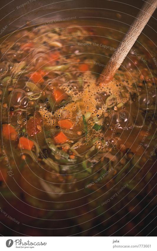eintopf Lebensmittel Gemüse Eintopf Linsen Lauchgemüse Möhre Tomate Ernährung Mittagessen Abendessen Bioprodukte Vegetarische Ernährung Topf Kochlöffel lecker