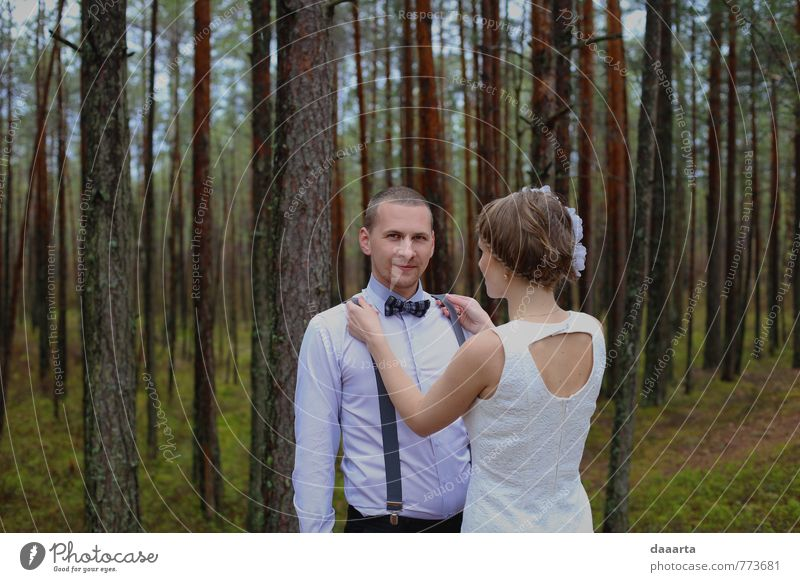 Mensch Natur Jugendliche schön Junge Frau Baum Junger Mann Landschaft Freude Wald Leben Gras feminin Stil Familie & Verwandtschaft Lifestyle
