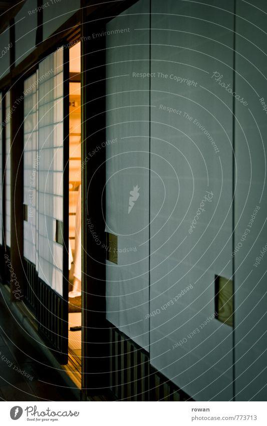 öffnung Häusliches Leben Wohnung Innenarchitektur Raum Wohnzimmer Architektur Mauer Wand exotisch Japanisch Papier Schiebetür Flur Wärme Lichterscheinung