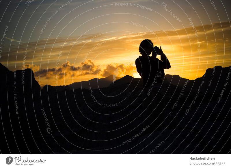 suncatcher... Sonnenuntergang Gegenlicht Stimmung Fotograf Fotografie Aktion Wolken Abend Mensch Berge u. Gebirge