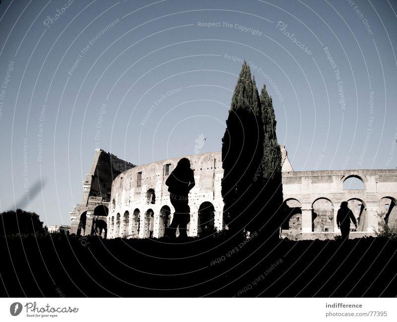 Colosseum Kolosseum Rom Italien Roman Mensch tree shadows building historical ancient walking