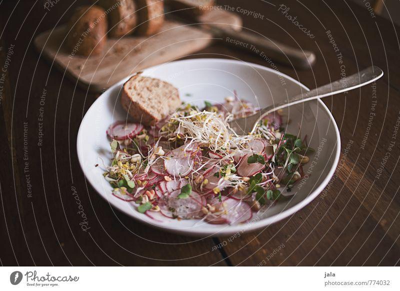 radiesli salat Lebensmittel Gemüse Salat Salatbeilage Brötchen Radieschen Keim Ernährung Mittagessen Abendessen Bioprodukte Vegetarische Ernährung Slowfood