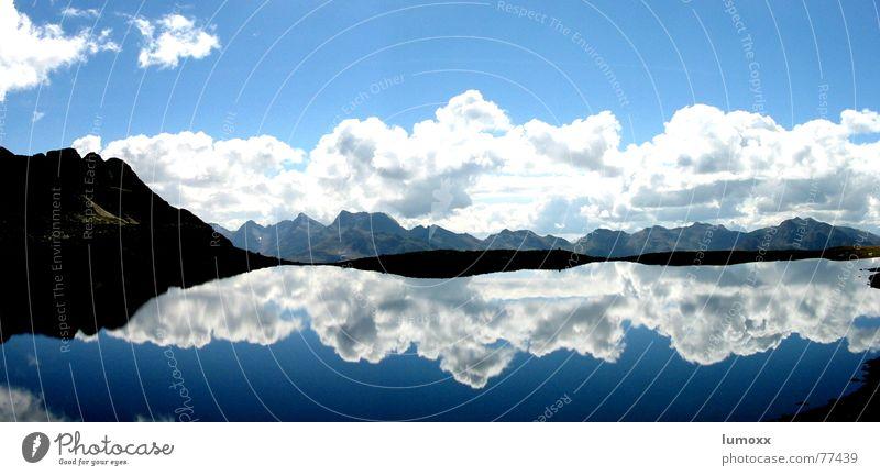 Alpenzauber Himmel Natur blau Wasser weiß schön Sommer Wolken schwarz Umwelt Landschaft Berge u. Gebirge See Felsen groß frei
