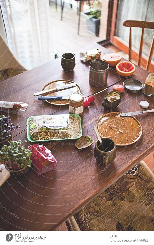 frühstückstisch Gesunde Ernährung natürlich Gesundheit Lebensmittel Wohnung Häusliches Leben Frucht frisch Getränk Tisch Kaffee Küche lecker Bioprodukte