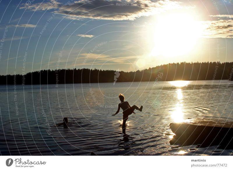 powered by jesus See nass Fotoserie Reflexion & Spiegelung Wolken Sonnenuntergang Bruchlandung tollpatschig unbequem Steg Glätte gefroren Momentaufnahme ruhig