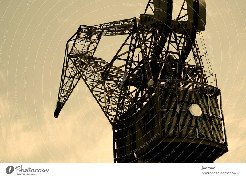 harte arbeit Einsamkeit Arbeit & Erwerbstätigkeit groß Industriefotografie Rost Kran Dock Buenos Aires Le vieux Port