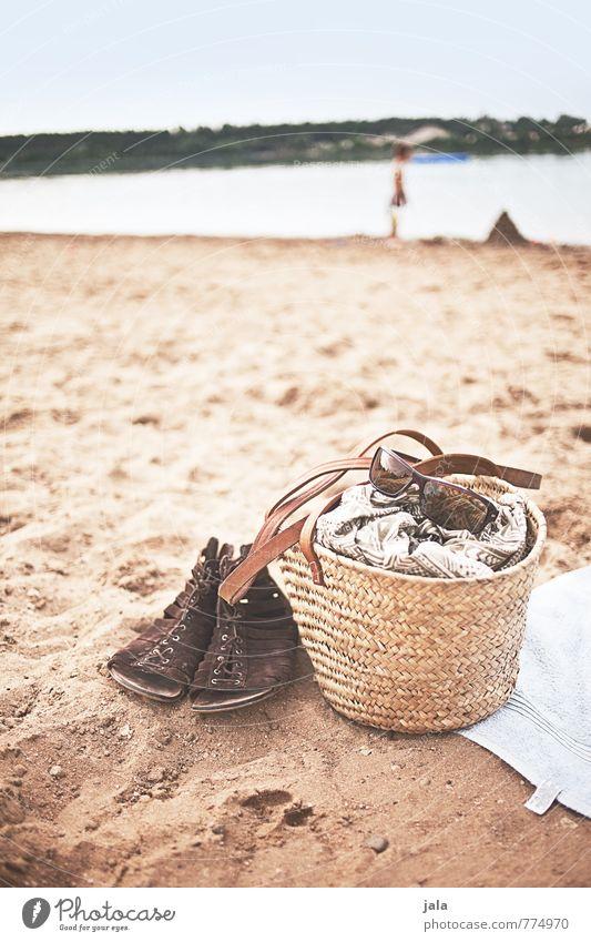 baggersee Zufriedenheit Erholung Schwimmen & Baden Ferien & Urlaub & Reisen Sommer Sonnenbad Strand Natur Landschaft Sand Wasser Himmel Seeufer Baggersee
