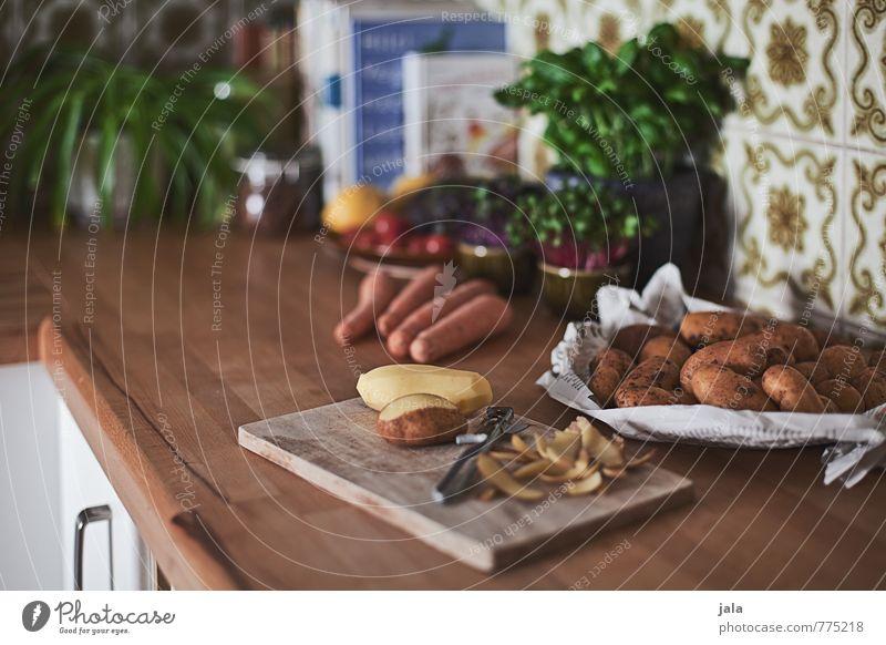 kartoffeln Lebensmittel Gemüse Kräuter & Gewürze Kartoffeln Möhre Ernährung Bioprodukte Vegetarische Ernährung Schneidebrett Häusliches Leben Wohnung