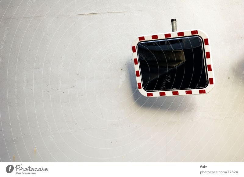 spieglein spieglein an der wand Wand Perspektive Ecke Spiegel Autofahren Rahmen Fahrhilfe
