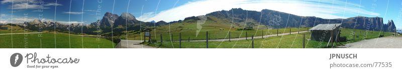 Seiseralm 275° Panorama Berge u. Gebirge groß Italien Alpen Panorama (Bildformat) Südtirol Dolomiten Fototechnik Geislergruppe Bewegung Sella Langkofel Schlern