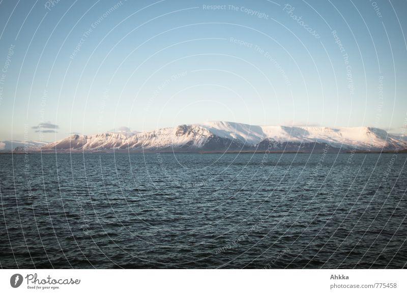 Perspektive? Abenteuer! blau Wasser Meer Einsamkeit ruhig Küste Eis Wellen Zufriedenheit wild Schönes Wetter Frost Hoffnung Neugier