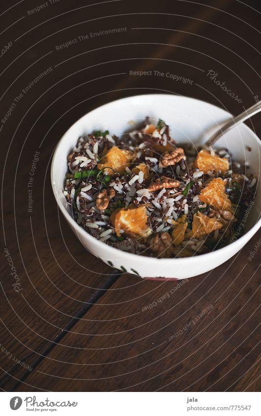 salat Lebensmittel Salat Salatbeilage Walnuss Orange Reis Quinoa Ernährung Mittagessen Bioprodukte Vegetarische Ernährung Geschirr Schalen & Schüsseln Besteck
