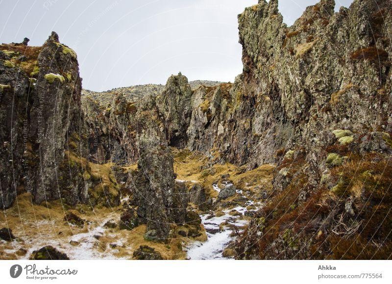 Der Weg zum Strand ... Natur alt dunkel Wege & Pfade Küste außergewöhnlich Felsen wild Urelemente Abenteuer Wüste Island bizarr eckig Märchen Schlucht
