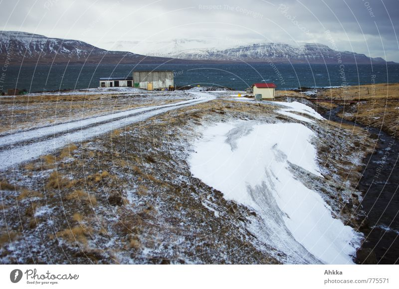 Der Weg zum Strand ... II Landschaft Wind Schnee Schneebedeckte Gipfel Fjord Meer Bach Hütte Fabrik Gebäude Straße Wege & Pfade entdecken laufen träumen wild