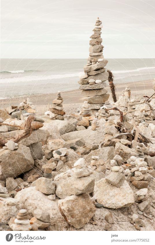 balance Natur Ferien & Urlaub & Reisen Sommer Meer Erholung ruhig Strand Freiheit Gesundheit Stein Horizont Zufriedenheit Ordnung Energie Wellness Gelassenheit