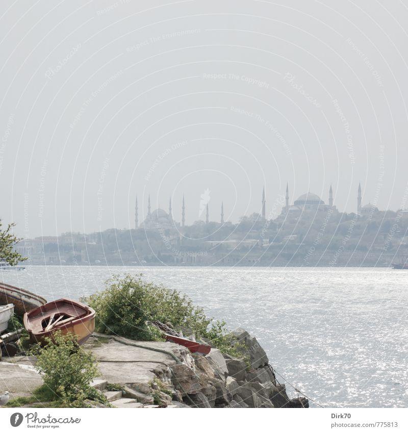 Asiatische Perspektive II Ferien & Urlaub & Reisen Tourismus Ferne Städtereise Sonnenlicht Schönes Wetter Sträucher Grünpflanze Küste Meer Bosporus Marmarameer