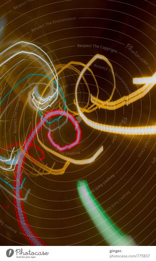 Ginger Moments - Sometimes something happens... Spirale Bewegung Windung streben richtungweisend dunkel hell Lichterscheinung Blick nach oben strahlend rot grün
